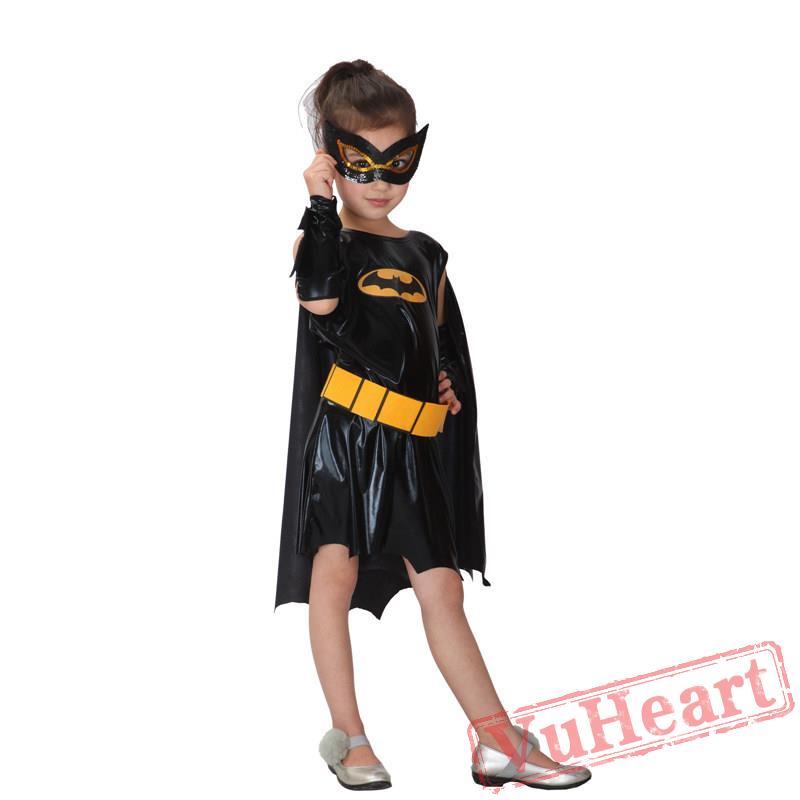 kid cosplay costume, Batman cloak