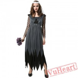 Ghost bride costume, halloween cosplay costume