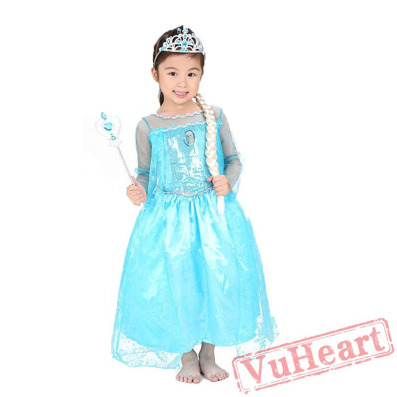 halloween ice and snow odds aisha queen costume anna princess skirt