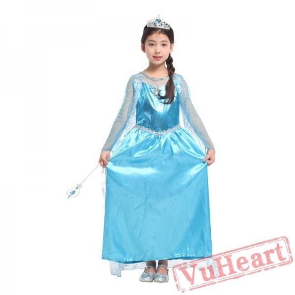 Ice and snow odd princess dress, Halloween kid's costume