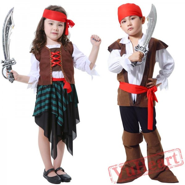 Halloween Child Caribbean Pirate Garment Jack