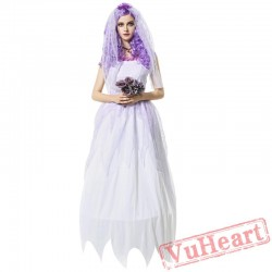 Vampire costume, ghost bride witch princess dress