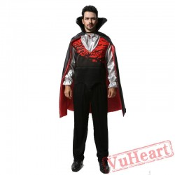 Halloween adult men costume, bat vampire count costume costume