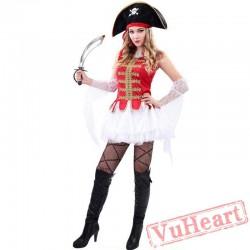Halloween pirate costume, luxury pirate costume