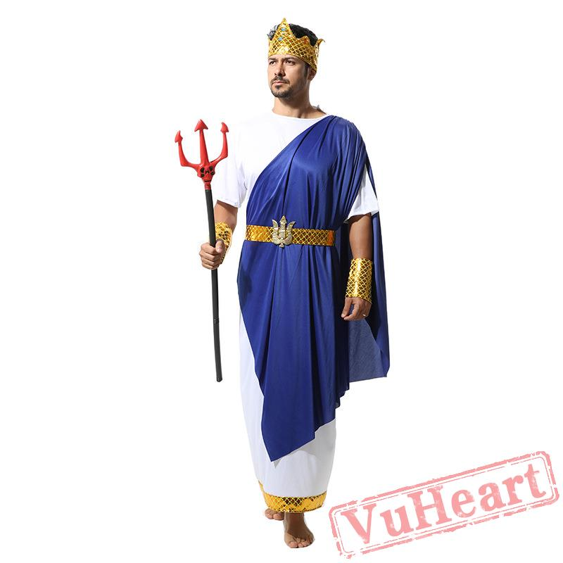 Halloween Men's costume, Poseidon Ponce  Poseidon Costume For Men
