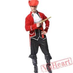 Halloween adult men's costume, Caribbean pirate costume