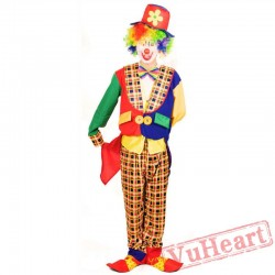 Adult clown costume, tuxedo