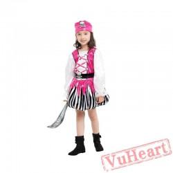 Halloween Child costume, Girl Pirate Garment