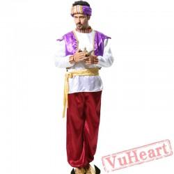 Halloween Arab King Costume, Aladdin Lamp