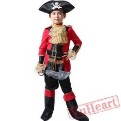 Child Pirate Garment, Caribbean Pirate Captain Costume