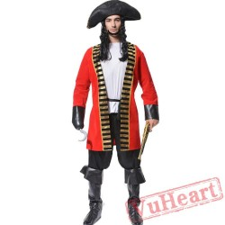 Adult Pirate Garment, One Eye, Jack Captain Costume