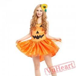Halloween pumpkin skirt, adult pumpkin costume
