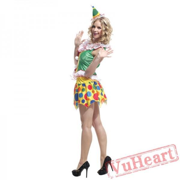 Halloween costume, circus clown costume