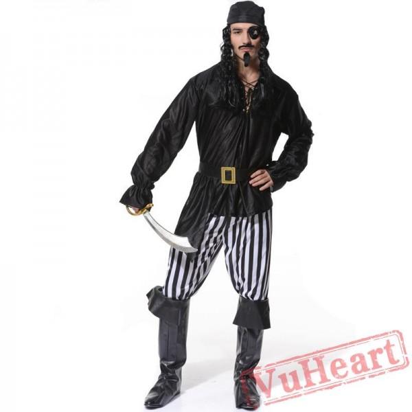 Halloween cosplay costume, adult men pirate costume