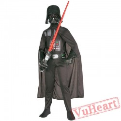 Adult Star Wars costume, black warrior Darth Vader costume