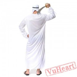 Halloween Adult Costume, Men Middle East Arab Prince King Costume