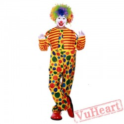 Halloween adult clown costume