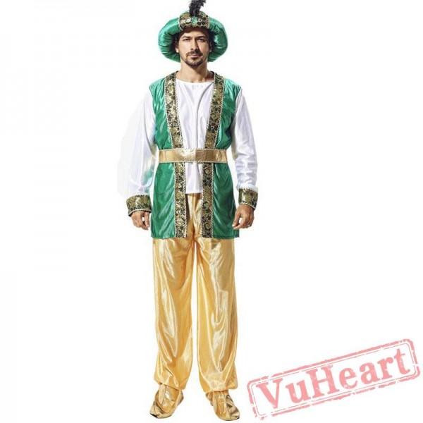 Halloween costume, child adult Arabian prince costume