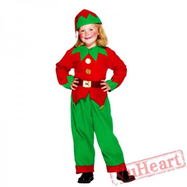 Halloween kid clown costume, game party dress
