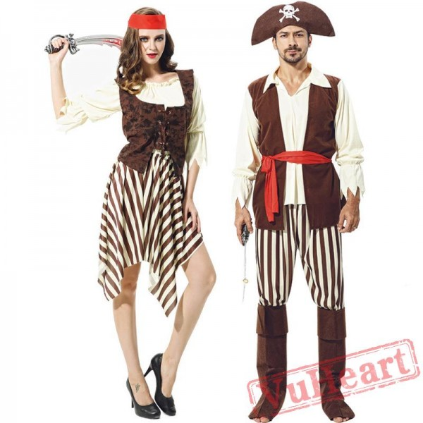 Halloween costumes, adult Caribbean pirate costume