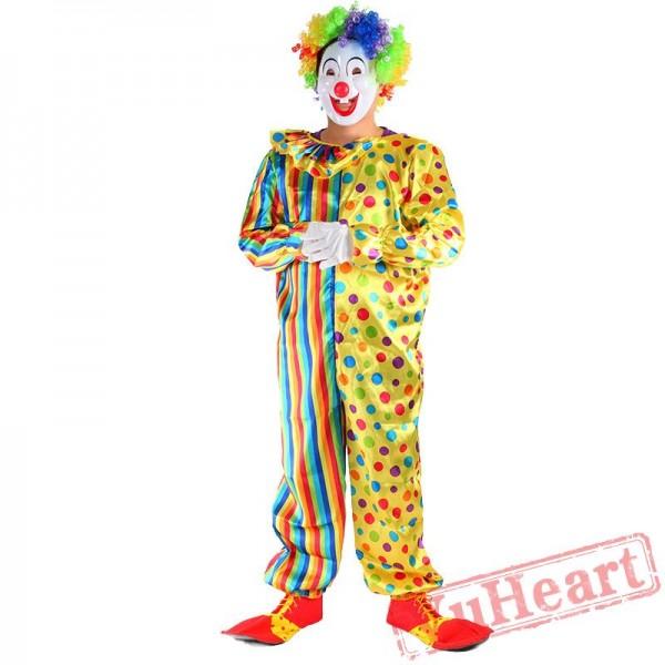 Halloween cosplay costume, clown adult costume