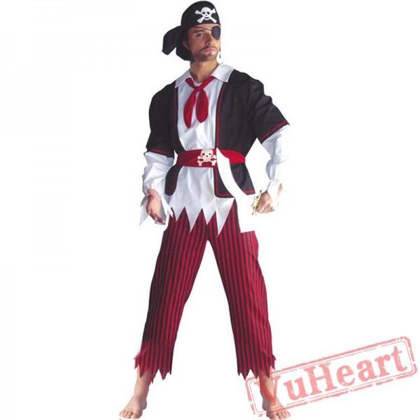 Halloween costume, Caribbean pirate captain costume