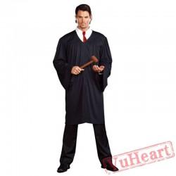 Halloween adult costume, presiding judge costume, adult judge dress