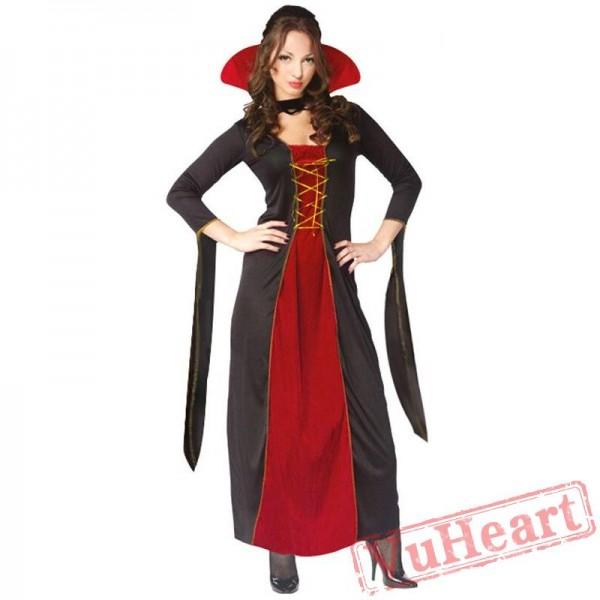 Halloween costume, black vampire devil costume, witch death demon