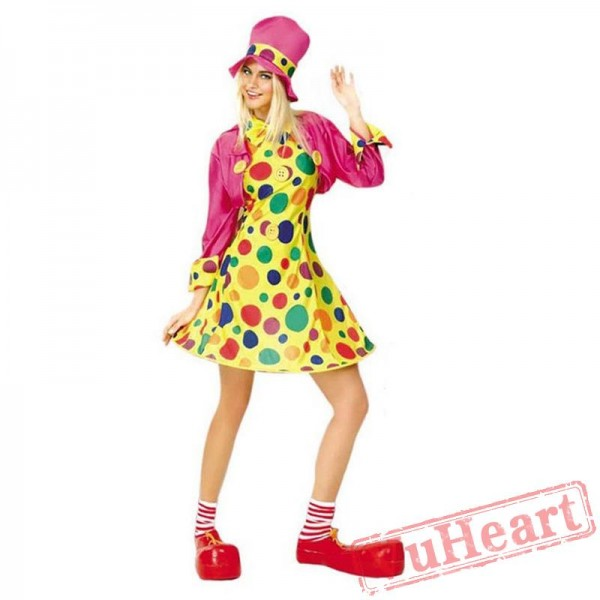 Halloween adult women clown costume