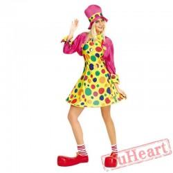Halloween adult women clown costume