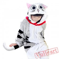 Kigurumi | Gray Cat Kigurumi Onesies - Onesies for Kids