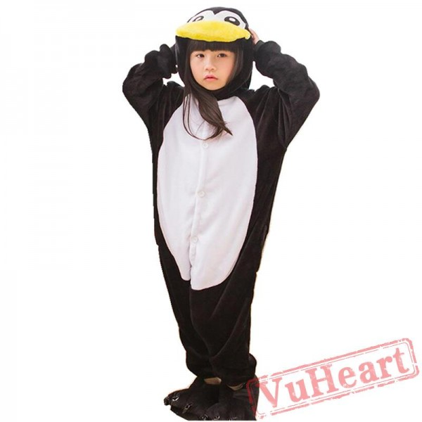 Kigurumi | Black Penguin Kigurumi Onesies - Onesies for Kids