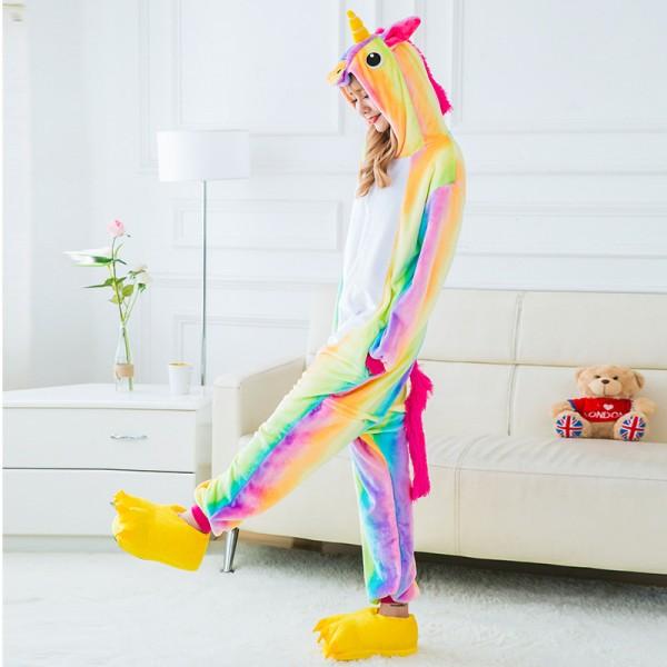 Rainbow Unicorn Kigurumi Onesie Pajamas / Costumes