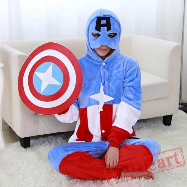 American Captain Onesie Costume & Pajamas - Halloween Costumes
