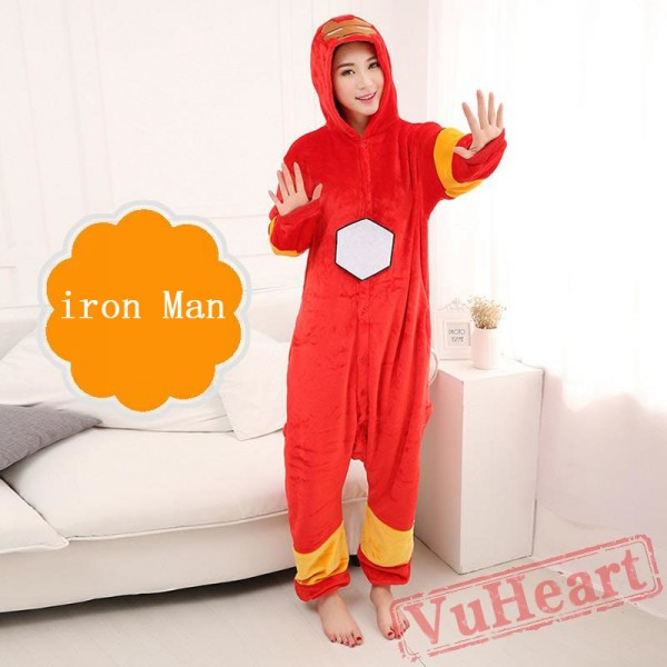 Iron Man Onesie Costume & Pajamas - Halloween Costumes