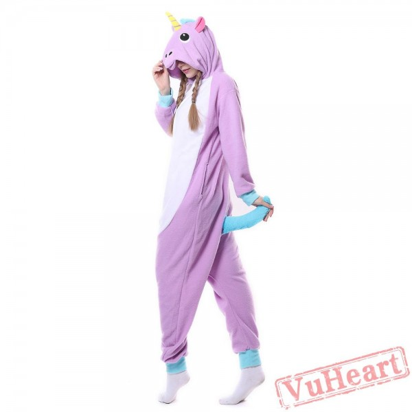 Kigurumi | Purple Unicorn Kigurumi Onesies - Adult Animal Onesies