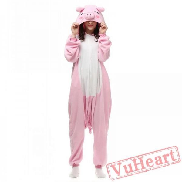 Kigurumi | Pink Pig Kigurumi Onesies - Adult Animal Onesies