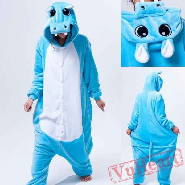 Kigurumi | Blue Hippo Kigurumi Onesies - Adult Animal Onesies