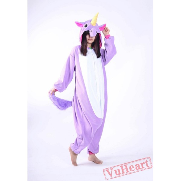 Kigurumi | Purple Blue Unicorn Kigurumi Onesies - Adult Animal Onesies
