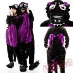 Kigurumi | Black Purple Dinosaur Kigurumi Onesies - Adult Animal Onesies