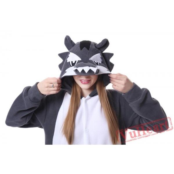 Kigurumi   Grag Wolf Kigurumi Onesies - Adult Animal Onesies