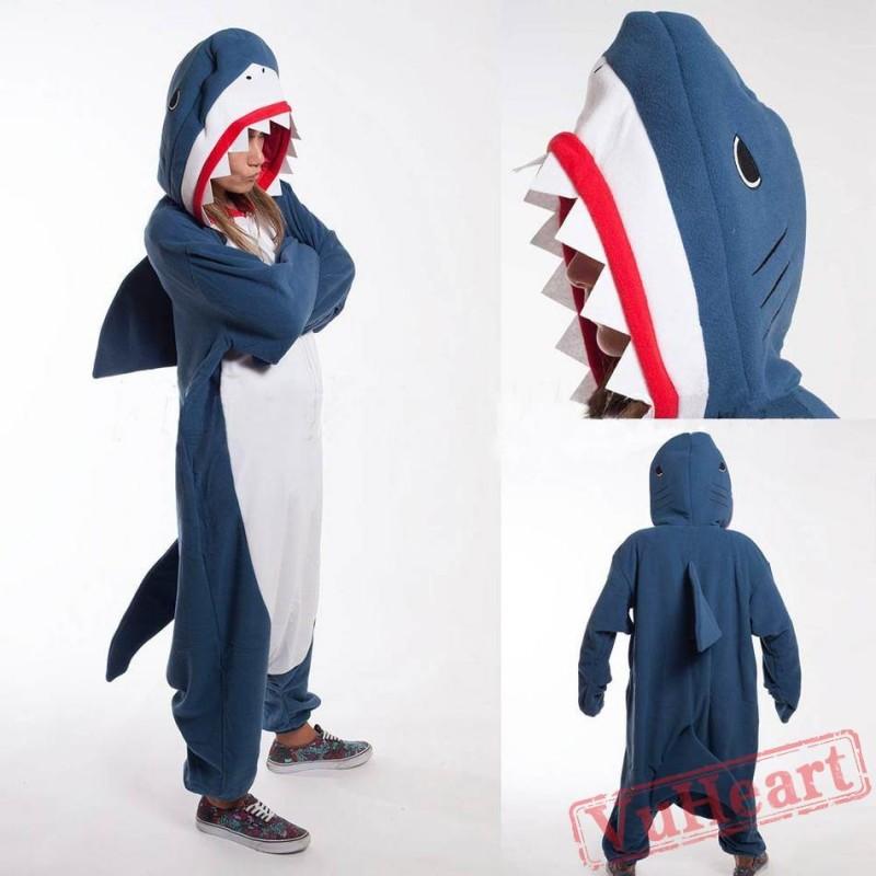 4578ee851 Kigurumi | Blue Shark Kigurumi Onesies - Adult Animal Onesies