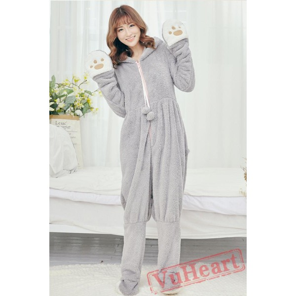 Coral Fleece Women Cartoon Onesies Pajamas Homewear
