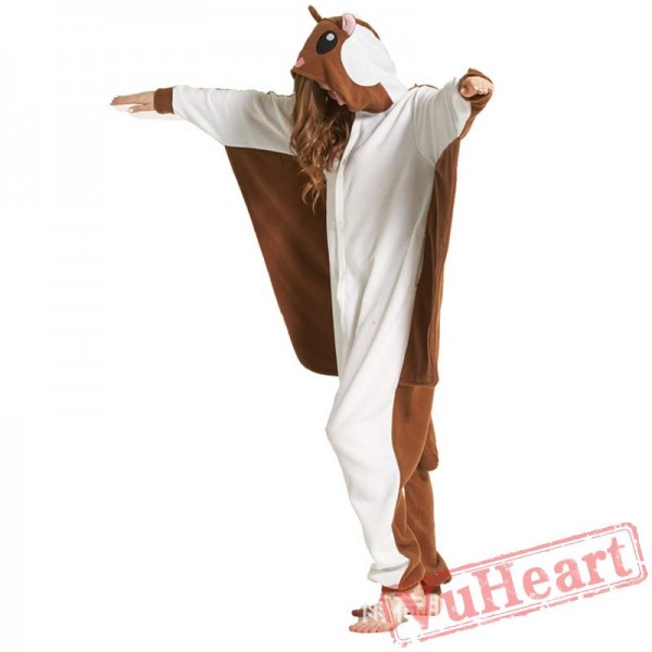 Adult Brown Fly Mouse Onesie Pajamas / Costumes for Women & Men