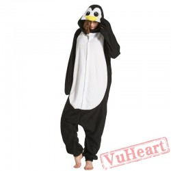 Adult Black Penguins Onesie Pajamas / Costumes for Women & Men
