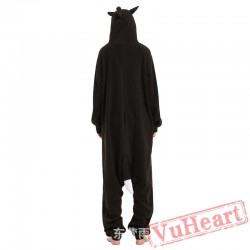 Adult Black Wolf Onesie Pajamas / Costumes for Women & Men