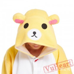 Adult Beige Bear Onesie Pajamas / Costumes for Women & Men