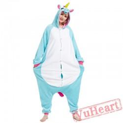 Adult Blue Unicorn Onesie Pajamas / Costumes for Women & Men