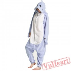 Adult Light Blue Shark Onesie Pajamas / Costumes for Women & Men
