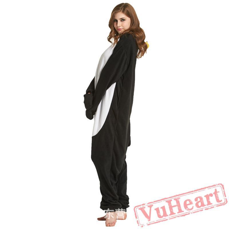 04eb2d2b84ac Adult Black Penguins Onesie Pajamas   Costumes for Women   Men